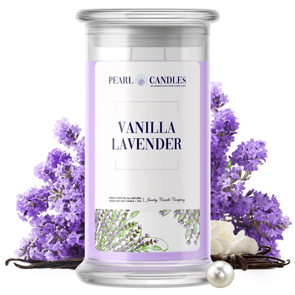Lavender Vanilla Pearl Candle - BathBombs.Com