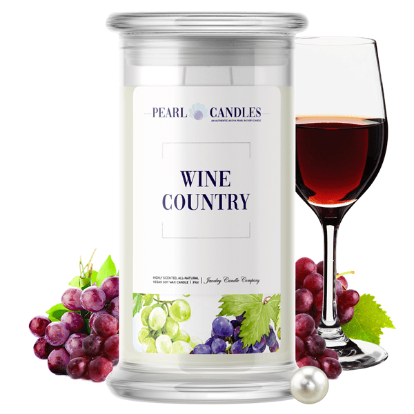 Wine Country Pearl Candle - BathBombs.Com