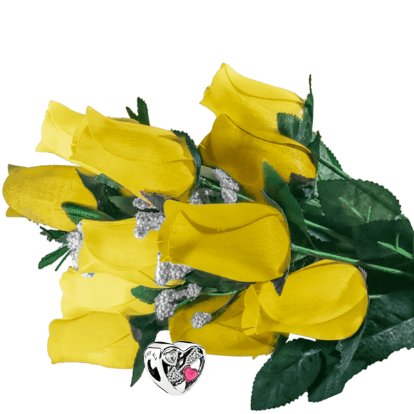 Yellow Bouquet Charm Roses - BathBombs.Com