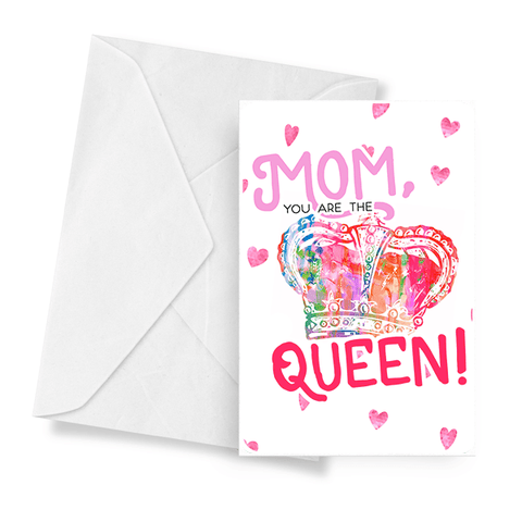 Mom You Are The Queen! Jewelry Greeting Card - BathBombs.Com