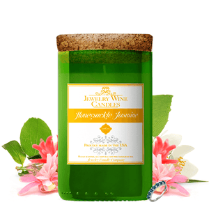 Honeysuckle Jasmine Jewelry Wine Candle - BathBombs.Com