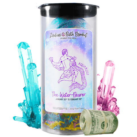 Aquarius Zodiac Cash Bath Bombs - BathBombs.Com