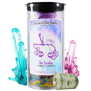 Libra Zodiac Cash Bath Bombs - BathBombs.Com