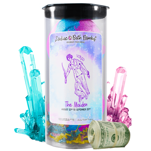 Virgo Zodiac Cash Bath Bombs - BathBombs.Com