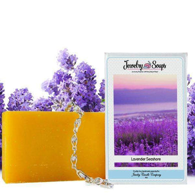 Lavender Seashore Jewelry Soap (Comes with Jewel!)-Jewelry Soaps-The Official Website of Jewelry Candles - Find Jewelry In Candles!