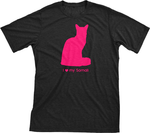 I Love My Somali | Must Love Cats® Hot Pink On Black Short Sleeve T-Shirt-Must Love Cats® T-Shirts-The Official Website of Jewelry Candles - Find Jewelry In Candles!