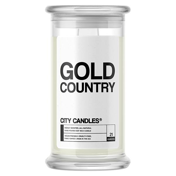 Gold Country City Candle - BathBombs.Com