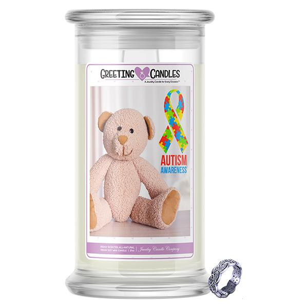 Autism Awareness Jewelry Greeting Candle - BathBombs.Com