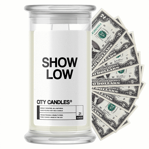 Show Low City Cash Candle - BathBombs.Com
