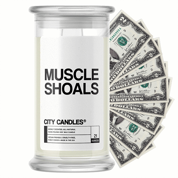 Muscle Shoals City Cash Candle - BathBombs.Com