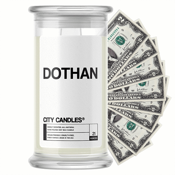 Dothan City Cash Candle - BathBombs.Com