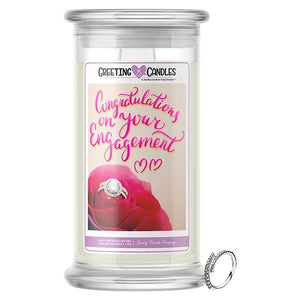 Congratulations On Your Engagement Jewelry Greeting Candle - BathBombs.Com