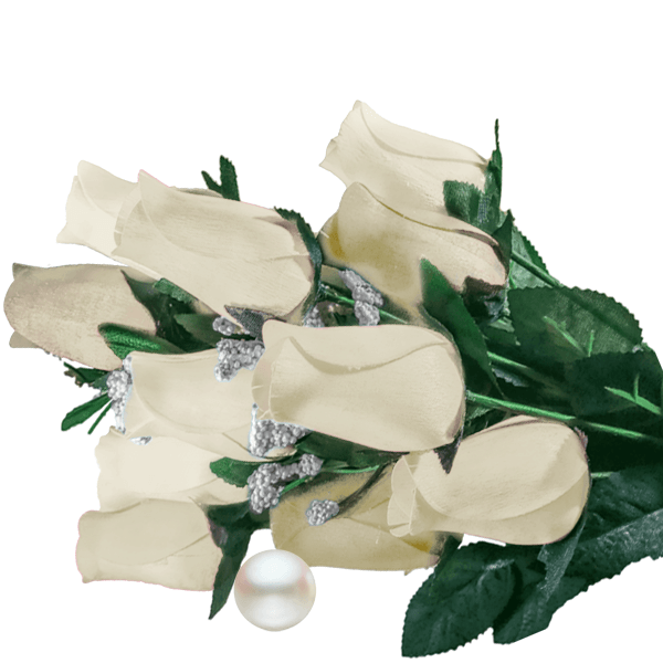 Cream Bouquet Pearl Roses - BathBombs.Com