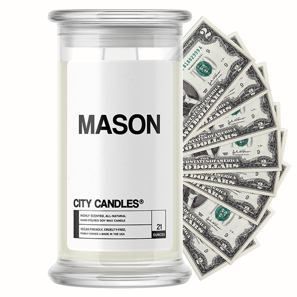 Mason City Cash Candle - BathBombs.Com