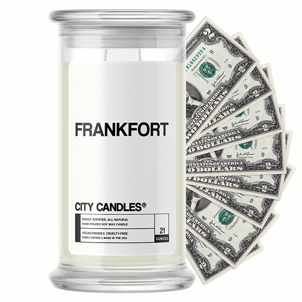 Frankfort City Cash Candle - BathBombs.Com