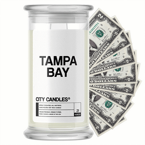 Tampa Bay City Cash Candle - BathBombs.Com