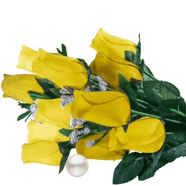 Yellow Bouquet Pearl Roses - BathBombs.Com