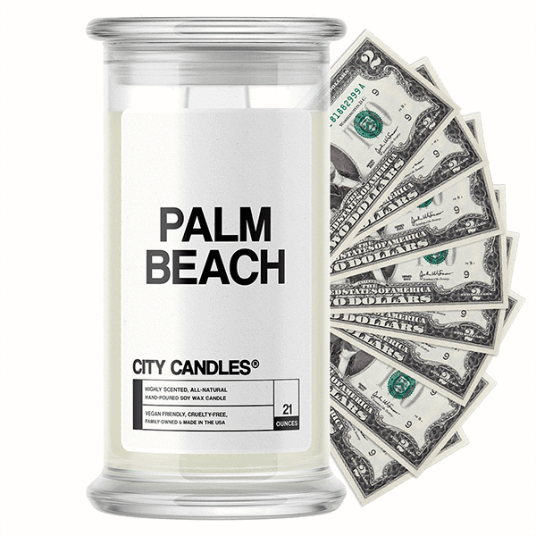 Palm Beach City Cash Candle - BathBombs.Com
