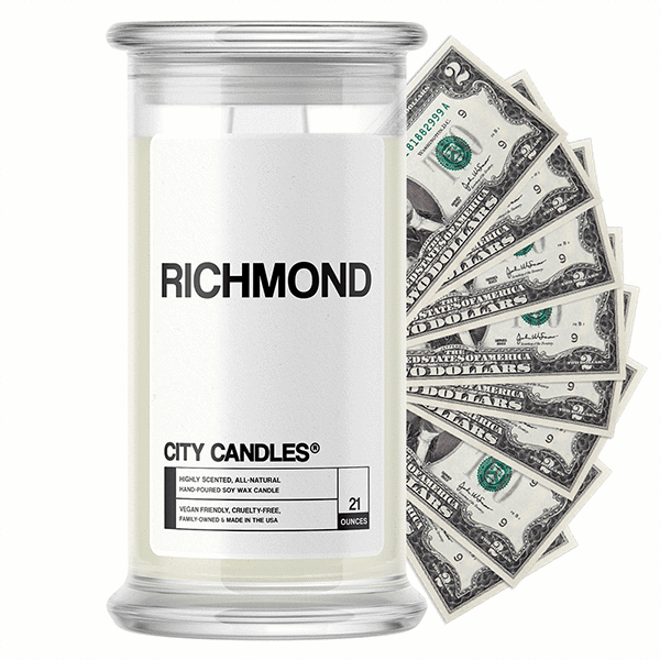 Richmond City Cash Candle - BathBombs.Com