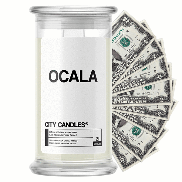Ocala City Cash Candle - BathBombs.Com