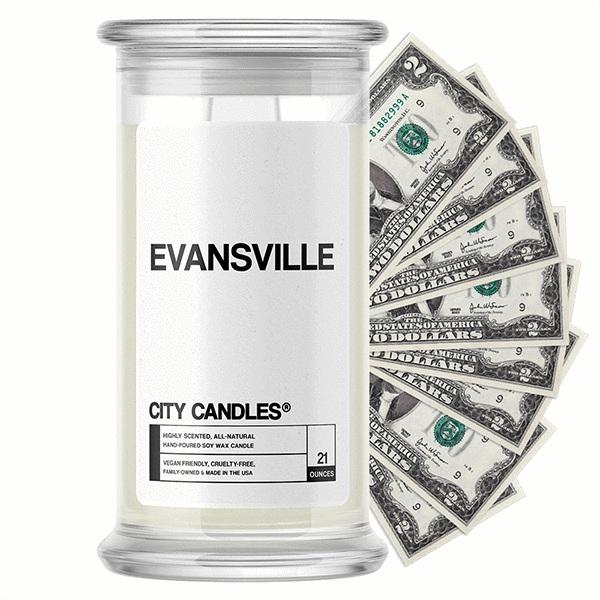 Evansville City Cash Candle - BathBombs.Com