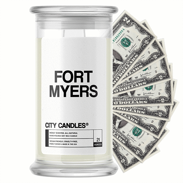 Fort Myers City Cash Candle - BathBombs.Com