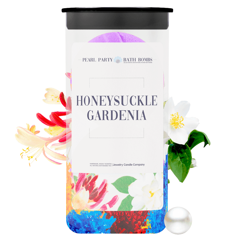 Honeysuckle Gardenia Pearl Party Bath Bombs Twin Pack - BathBombs.Com