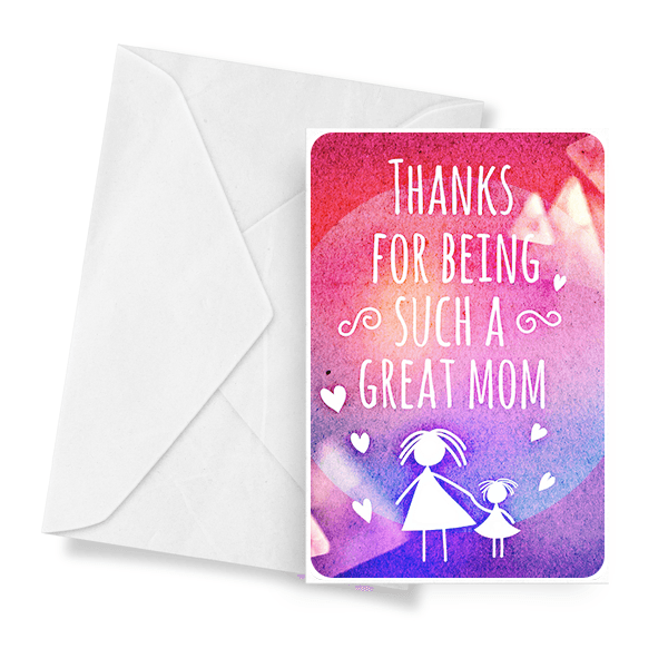 Thanks For Being Such A Great Mom Jewelry Greeting Card - BathBombs.Com