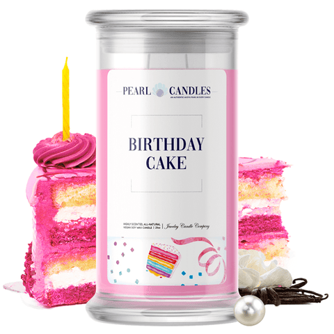 Birthday Cake Pearl Candle - BathBombs.Com