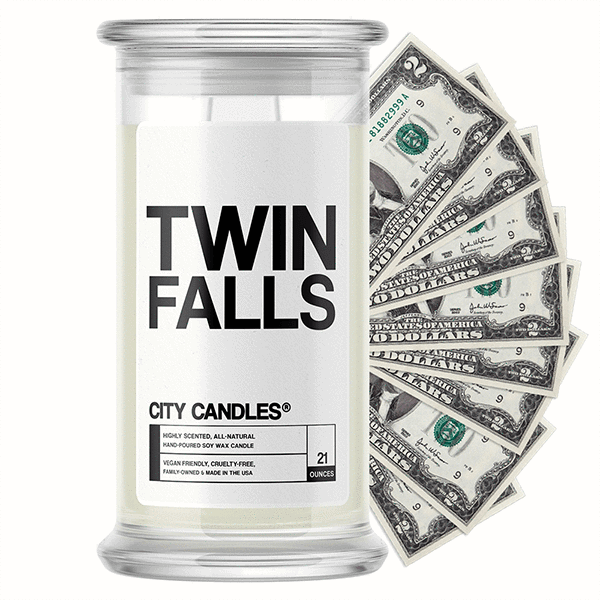 Twin Falls City Cash Candle - BathBombs.Com