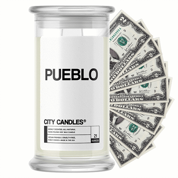 Pueblo City Cash Candle - BathBombs.Com