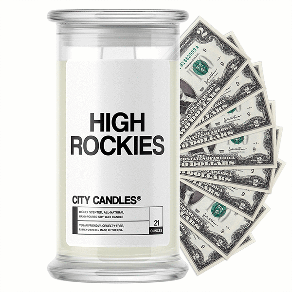 High Rockies City Cash Candle - BathBombs.Com