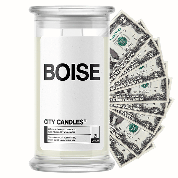 Boise City Cash Candle - BathBombs.Com