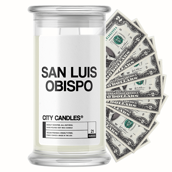 San Luis Obispo City Cash Candle - BathBombs.Com