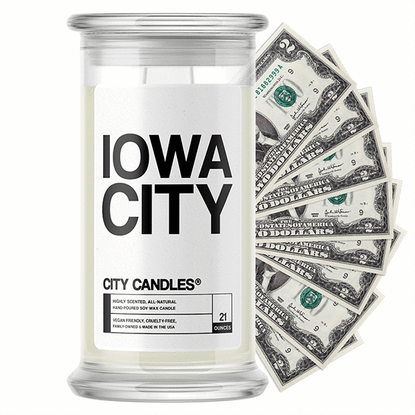 Iowa City City Cash Candle - BathBombs.Com