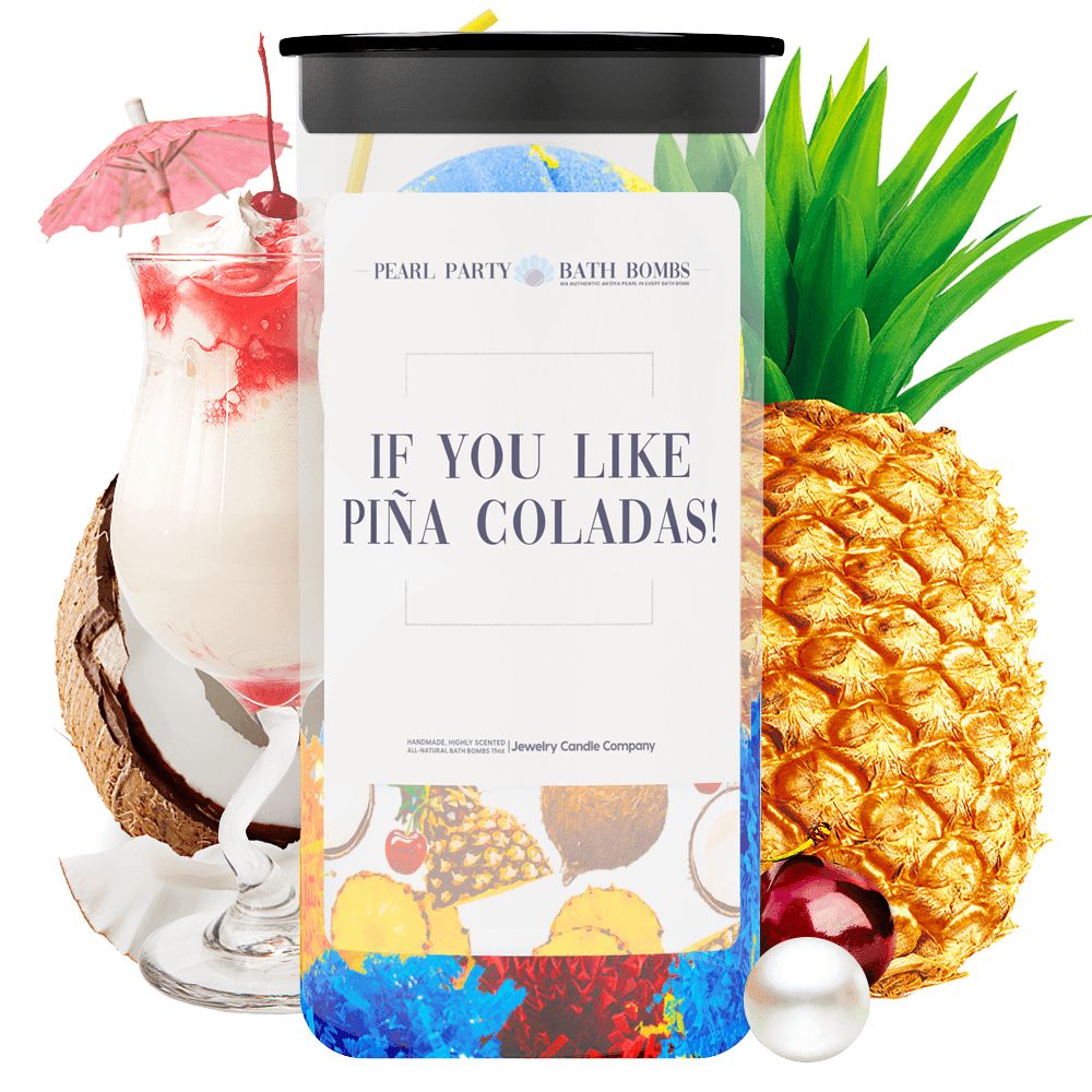 If You Like Piña Coladas! Pearl Party Bath Bombs Twin Pack - BathBombs.Com