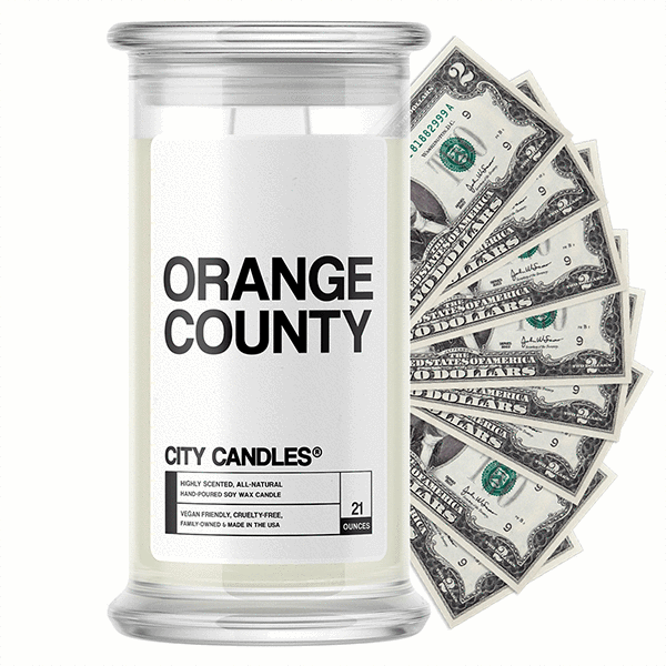 Orange County City Cash Candle - BathBombs.Com
