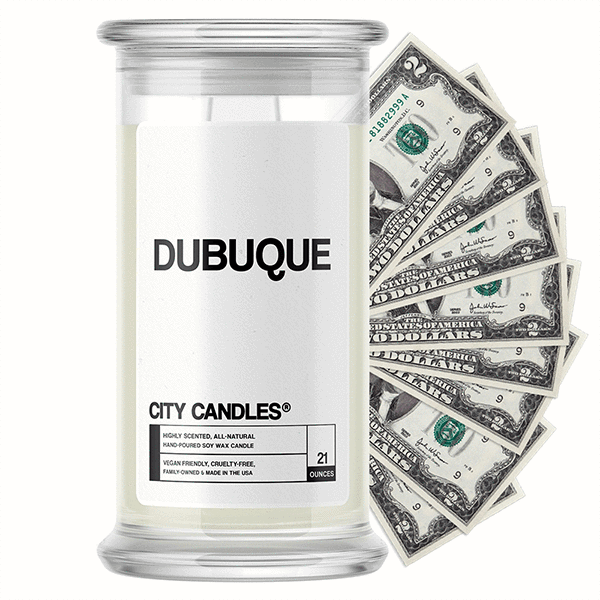 Dubuque City Cash Candle - BathBombs.Com