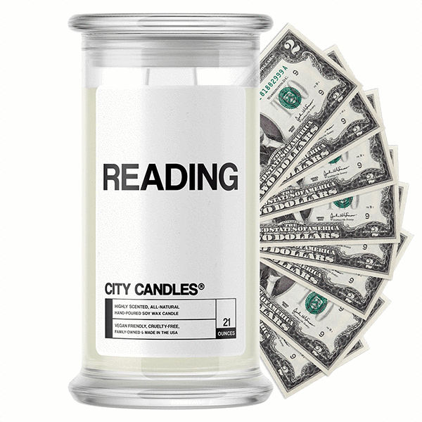 Reading City Cash Candle - BathBombs.Com