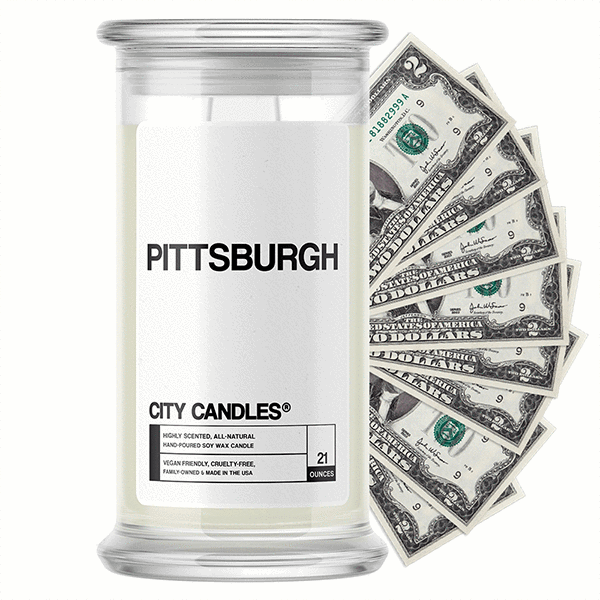 Pittsburgh City Cash Candle - BathBombs.Com