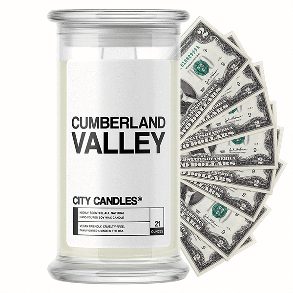 Cumberland Valley City Cash Candle - BathBombs.Com