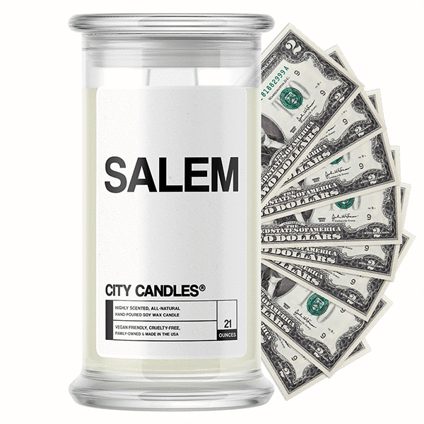 Salem City Cash Candle - BathBombs.Com