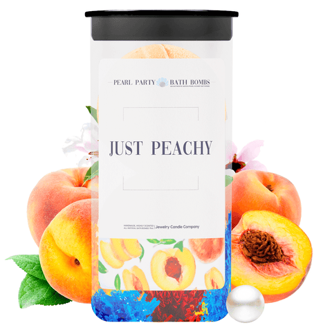 Just Peachy Pearl Party Bath Bombs Twin Pack - BathBombs.Com