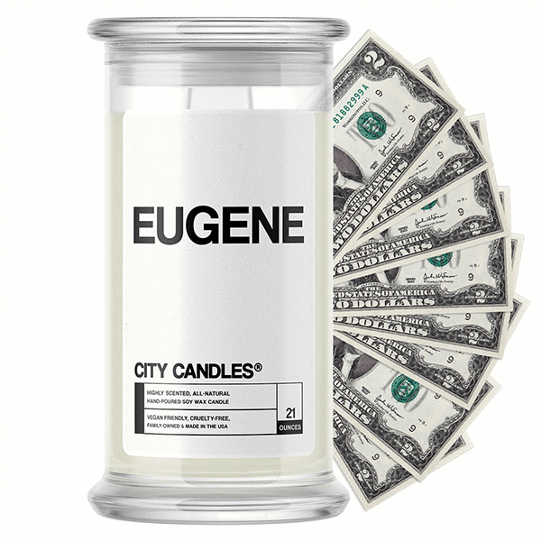 Eugene City Cash Candle - BathBombs.Com
