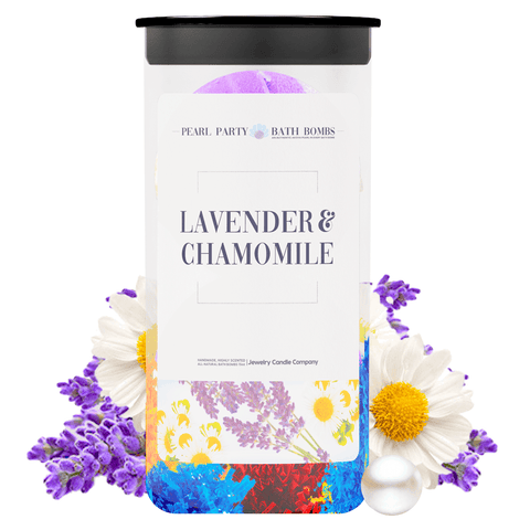 Lavender & Chamomile Pearl Party Bath Bombs Twin Pack