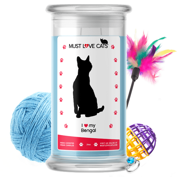 I Love My Bengal Must Love Cats Candle - BathBombs.Com