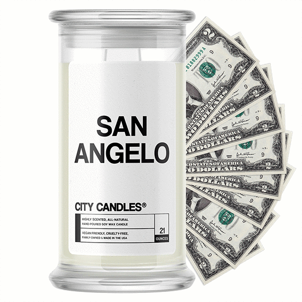 San Angelo City Cash Candle - BathBombs.Com