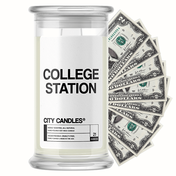 College Station City Cash Candle - BathBombs.Com