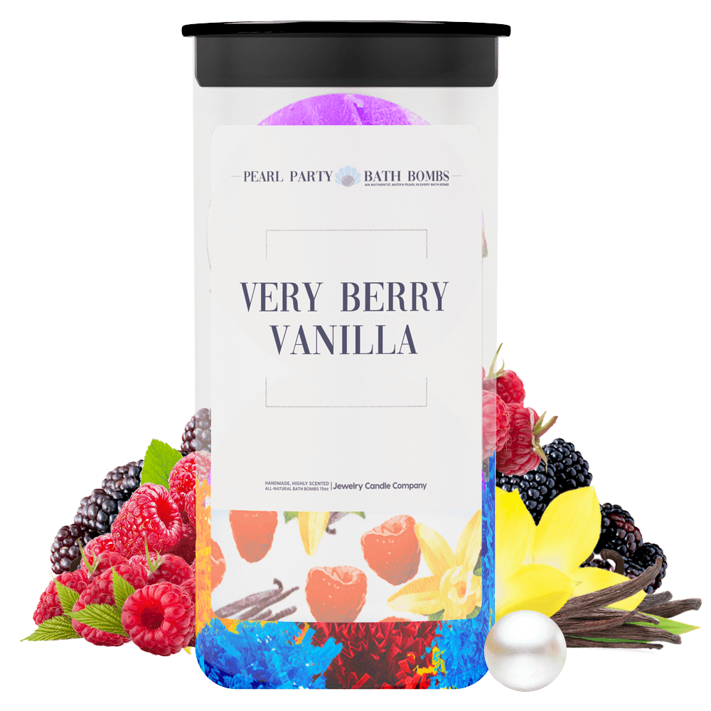 Very Berry Vanilla Pearl Party Bath Bombs Twin Pack - BathBombs.Com
