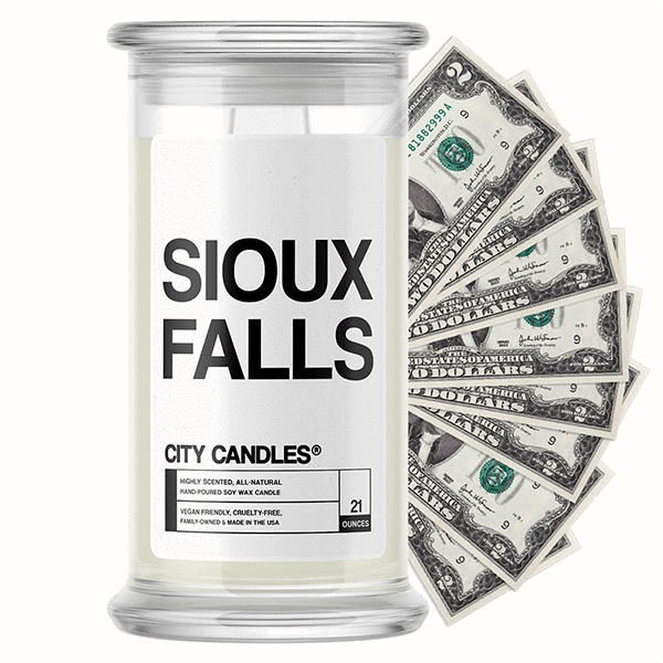 Sioux Falls City Cash Candle - BathBombs.Com